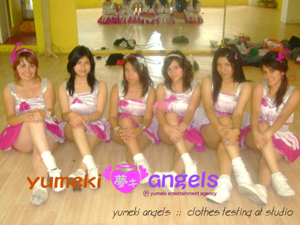 Yumeki Angels Clothes testing at studio