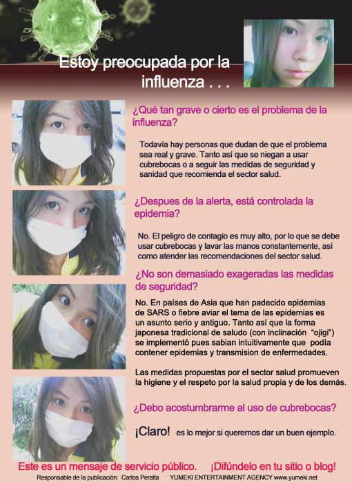 Mensaje de Yumeki Angels sobre la influenza en Mexico