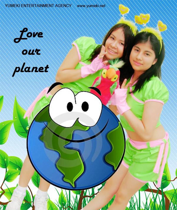 Pinku Pawaa Love our Planet
