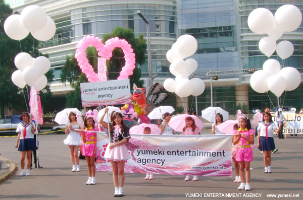Yumeki Entertainment en desfile 400 años Mexico Japon