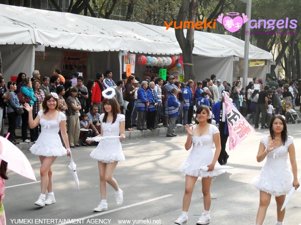 Yumeki Angels en Desfile 400 años mexico japon paseo de la reforma