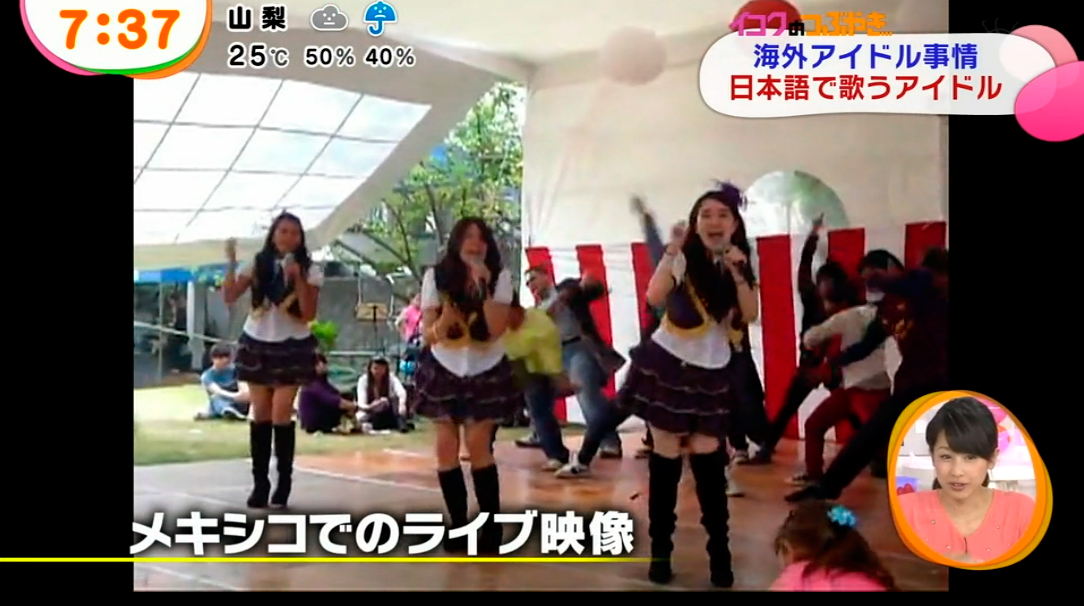 Yumeki Angels en Mezamashi FujiTV