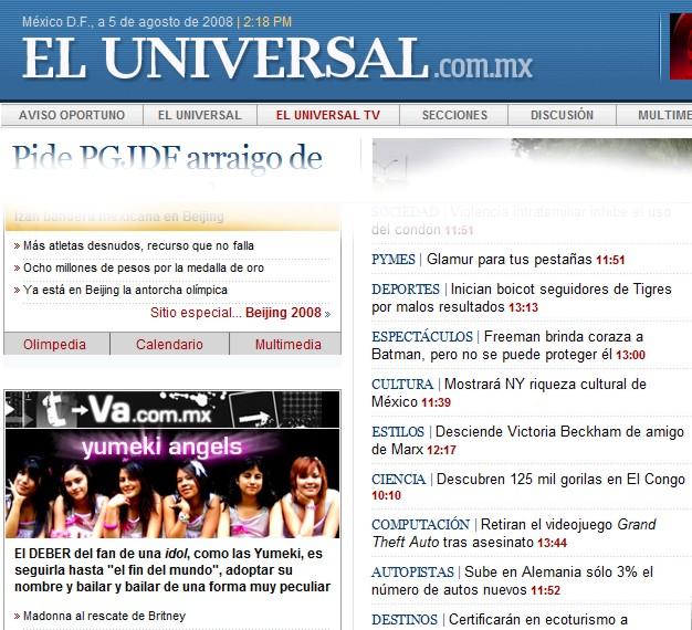 Yumeki Angels en Eluniversal.com.mx